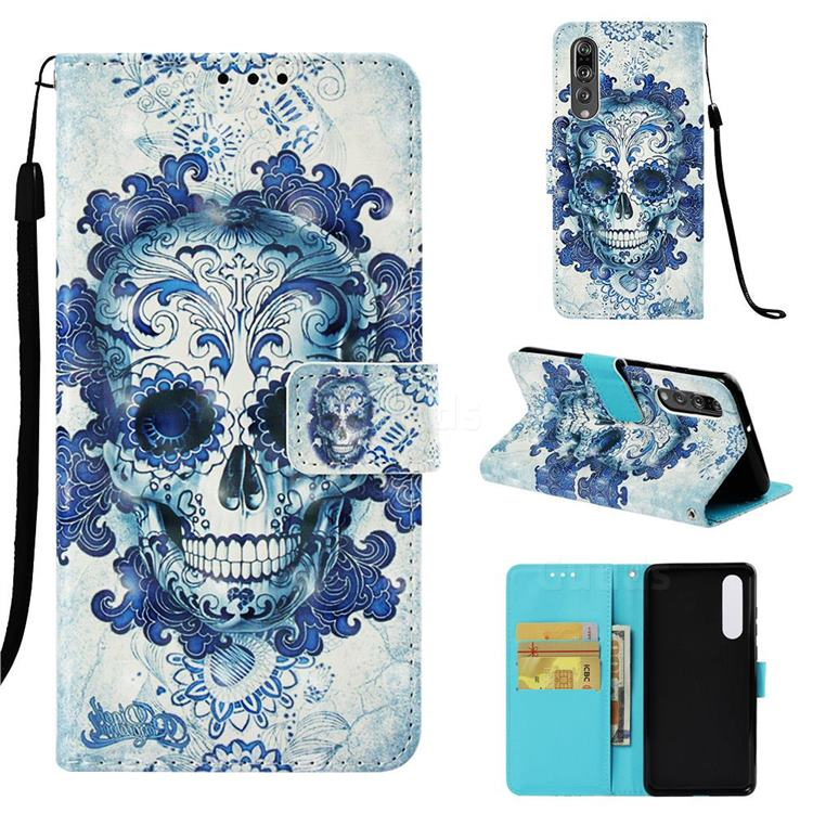 Cloud Kito 3D Painted Leather Wallet Case for Huawei P30