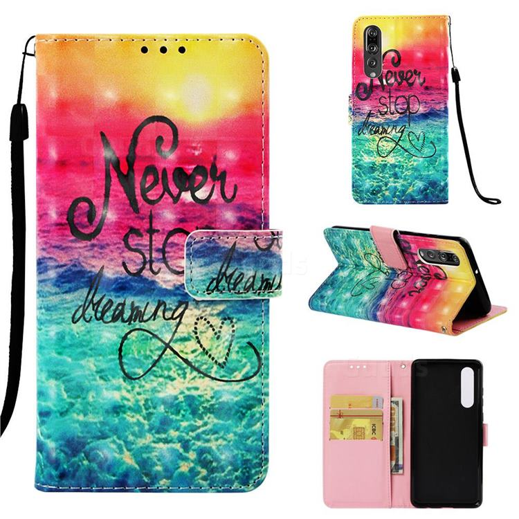 Colorful Dream Catcher 3D Painted Leather Wallet Case for Huawei P30