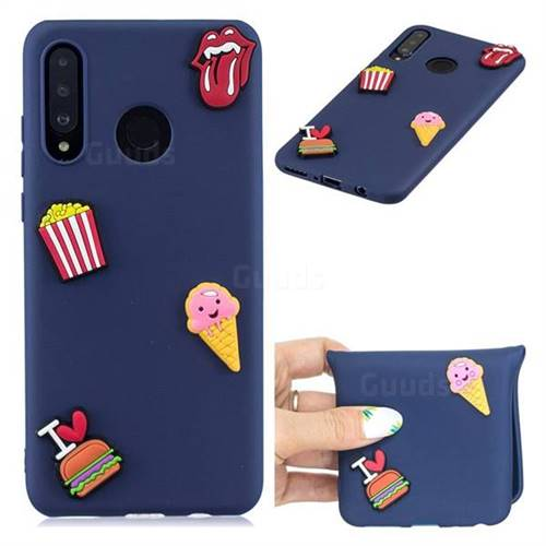 I Love Hamburger Soft 3D Silicone Case for Huawei P30 Lite