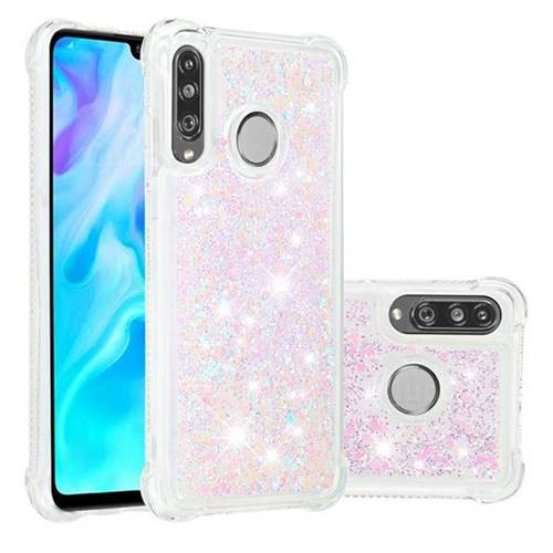 Dynamic Liquid Glitter Sand Quicksand Star TPU Case for Huawei P30 Lite - Pink