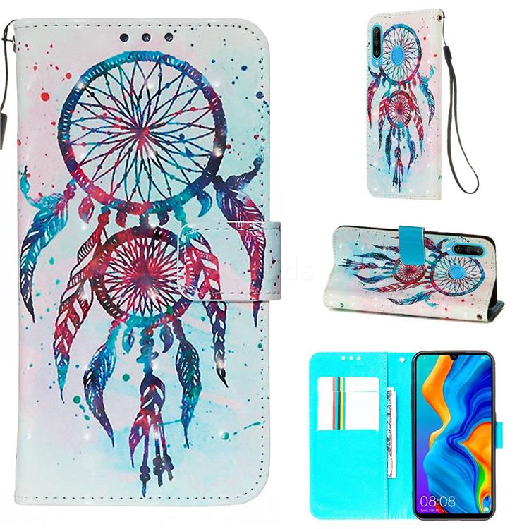 ColorDrops Wind Chimes 3D Painted Leather Wallet Case for Huawei P30 Lite