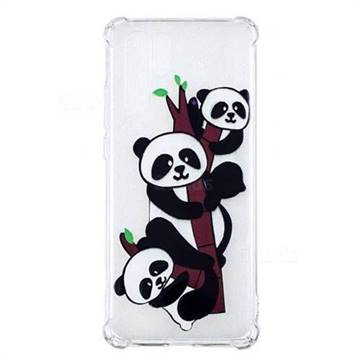 Three Pandas Anti-fall Clear Varnish Soft TPU Back Cover for Huawei P30 Pro
