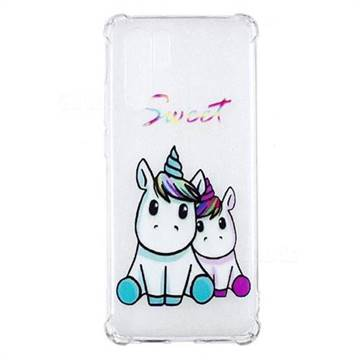 Sweet Unicorn Anti-fall Clear Varnish Soft TPU Back Cover for Huawei P30 Pro