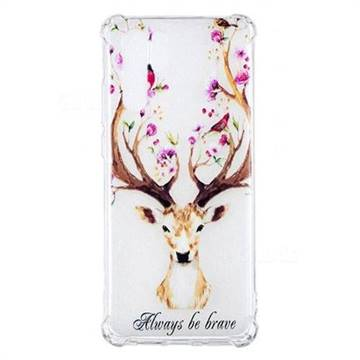 Always be Brave Anti-fall Clear Varnish Soft TPU Back Cover for Huawei P30 Pro
