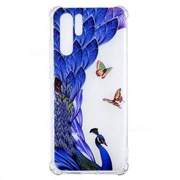 Peacock Butterfly Anti-fall Clear Varnish Soft TPU Back Cover for Huawei P30 Pro