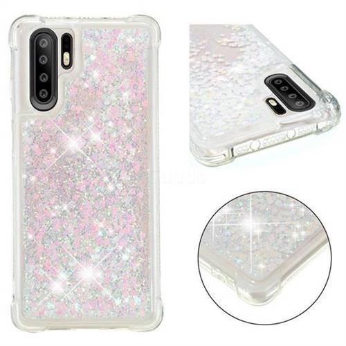 Dynamic Liquid Glitter Sand Quicksand Star TPU Case for Huawei P30 Pro - Pink