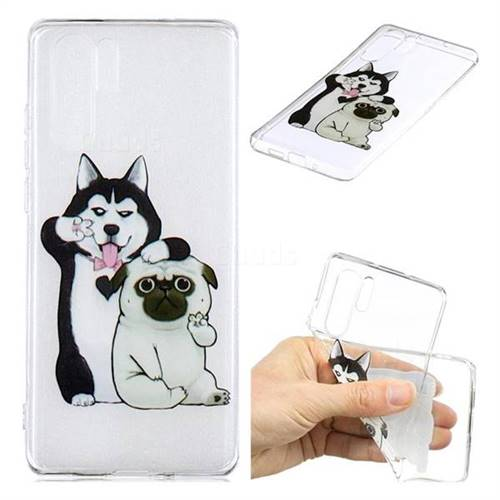 Selfie Dog Clear Varnish Soft Phone Back Cover for Huawei P30 Pro