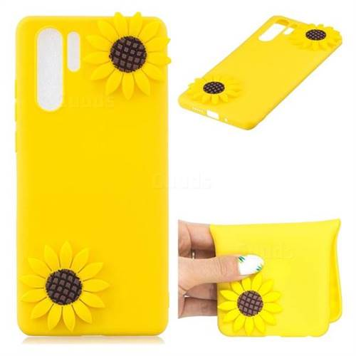 Yellow Sunflower Soft 3D Silicone Case for Huawei P30 Pro