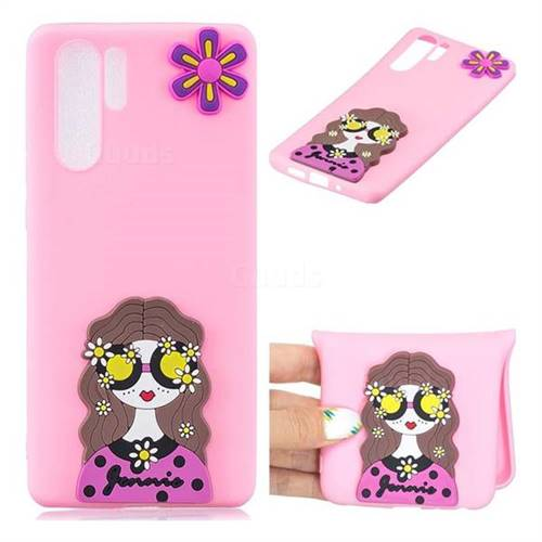Violet Girl Soft 3D Silicone Case for Huawei P30 Pro