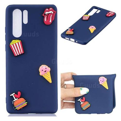 I Love Hamburger Soft 3D Silicone Case for Huawei P30 Pro