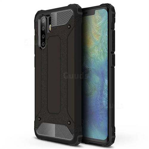 King Kong Armor Premium Shockproof Dual Layer Rugged Hard Cover for Huawei P30 Pro - Black Gold