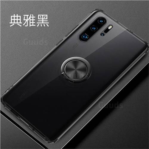 Anti-fall Invisible Press Bounce Ring Holder Phone Cover for Huawei P30 Pro - Elegant Black