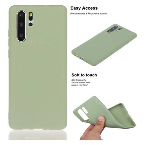Soft Matte Silicone Phone Cover for Huawei P30 Pro - Bean Green