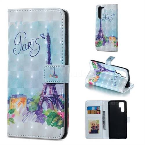 Paris Tower 3D Painted Leather Phone Wallet Case for Huawei P30 Pro