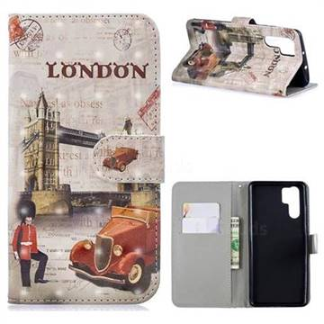 Retro London 3D Painted Leather Phone Wallet Case for Huawei P30 Pro