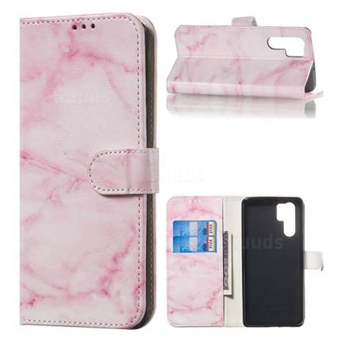 Pink Marble PU Leather Wallet Case for Huawei P30 Pro