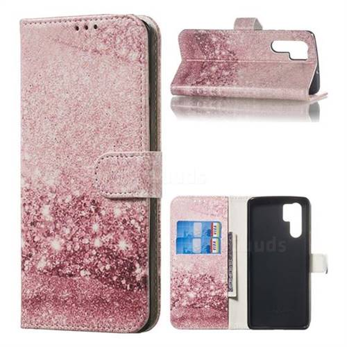 Glittering Rose Gold PU Leather Wallet Case for Huawei P30 Pro