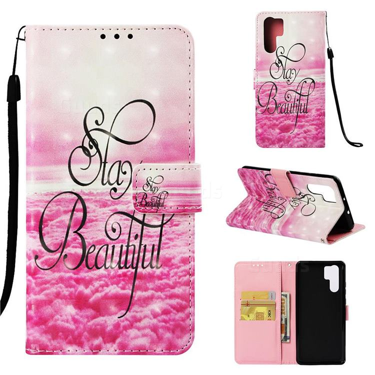 Beautiful 3D Painted Leather Wallet Case for Huawei P30 Pro
