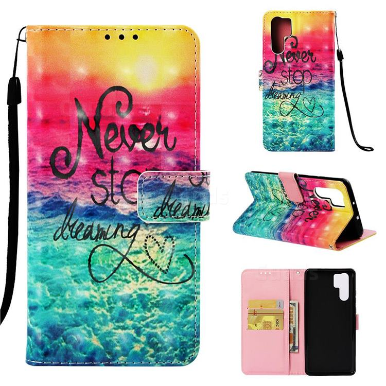 Colorful Dream Catcher 3D Painted Leather Wallet Case for Huawei P30 Pro
