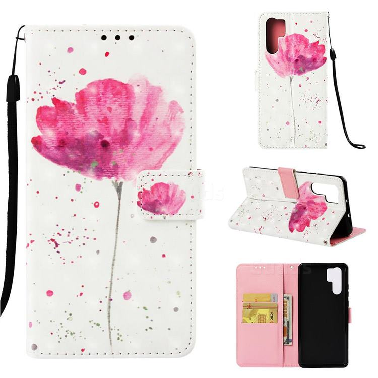 Watercolor 3D Painted Leather Wallet Case for Huawei P30 Pro