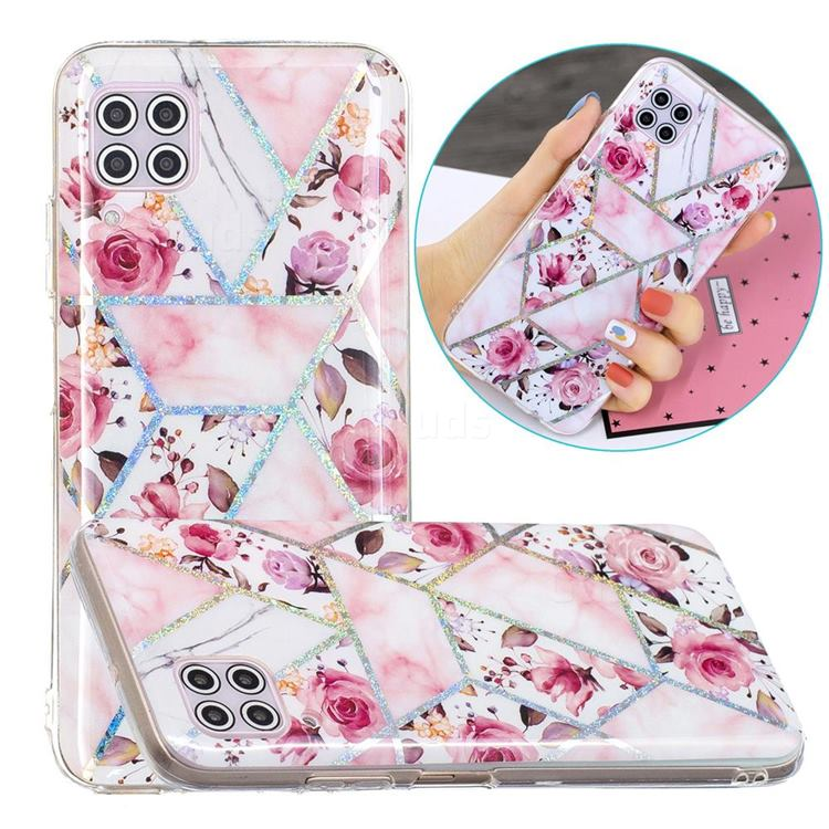 Rose Flower Painted Galvanized Electroplating Soft Phone Case Cover for Huawei P40 Lite