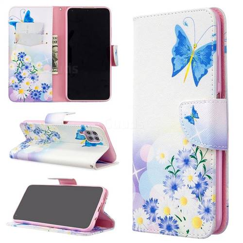 Butterflies Flowers Leather Wallet Case for Huawei P40 Lite