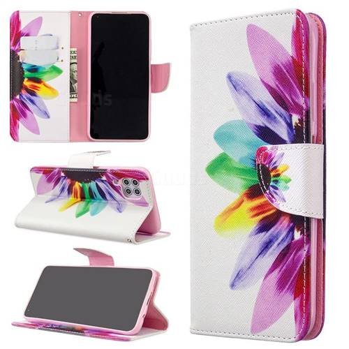 Seven-color Flowers Leather Wallet Case for Huawei P40 Lite