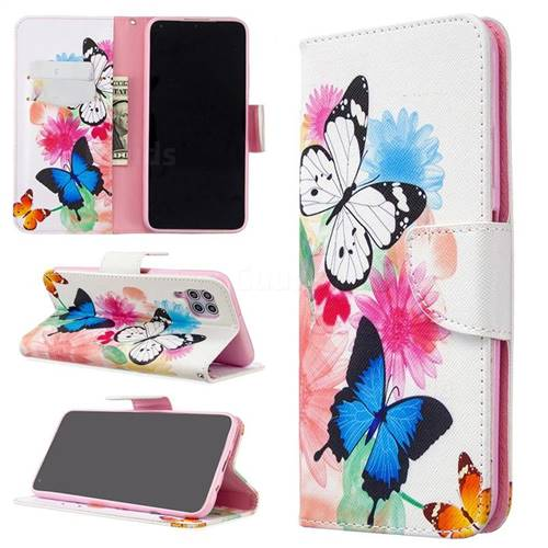 Vivid Flying Butterflies Leather Wallet Case for Huawei P40 Lite