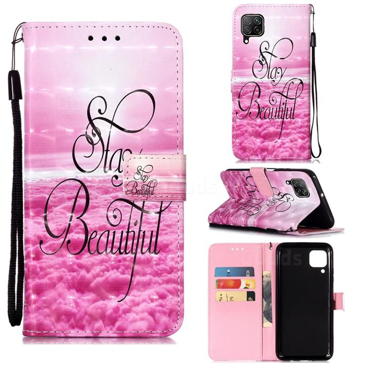 Beautiful 3D Painted Leather Wallet Case for Huawei P40 Lite