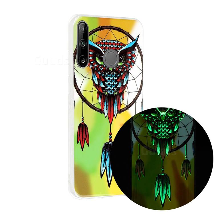 Owl Wind Chimes Noctilucent Soft TPU Back Cover for Huawei P40 Lite E
