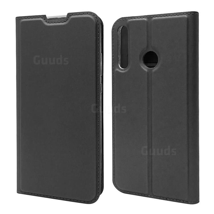 Ultra Slim Card Magnetic Automatic Suction Leather Wallet Case for Huawei P40 Lite E - Star Grey