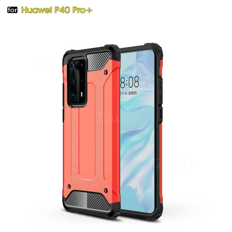 King Kong Armor Premium Shockproof Dual Layer Rugged Hard Cover for Huawei P40 Pro+ / P40 Plus 5G - Big Red