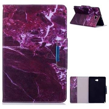 Red Marble Folio Flip Stand Leather Wallet Case for Samsung Galaxy Tab A 10.1 with S-Pen P580 P585