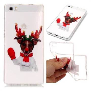 Red Gloves Elk Super Clear Soft TPU Back Cover for Huawei P8 Lite P8lite