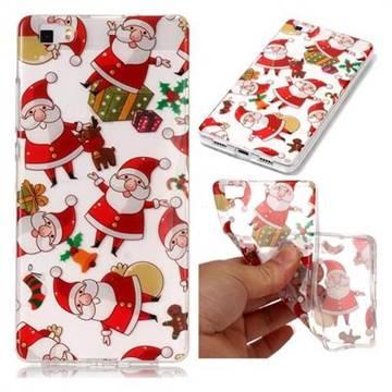 Santa Claus Super Clear Soft TPU Back Cover for Huawei P8 Lite P8lite