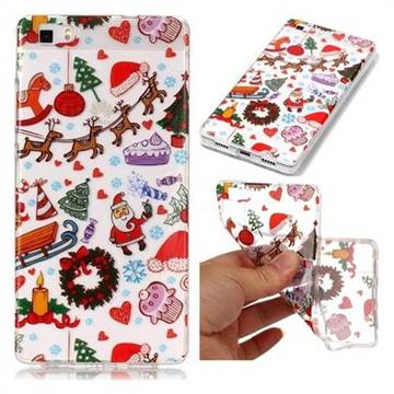 Christmas Playground Super Clear Soft TPU Back Cover for Huawei P8 Lite P8lite