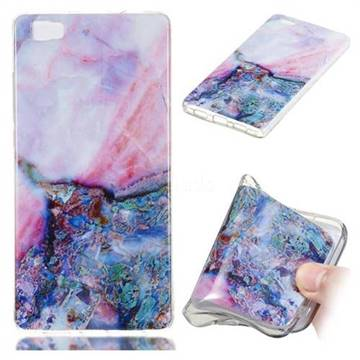 Purple Amber Soft TPU Marble Pattern Phone Case for Huawei P8 Lite P8lite