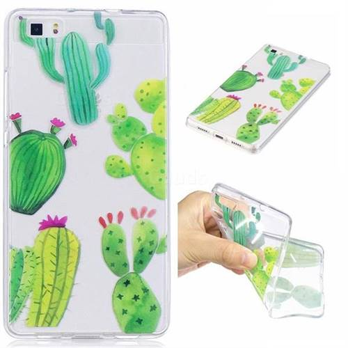 Green Cactus Super Clear Soft TPU Back Cover for Huawei P8 Lite ...