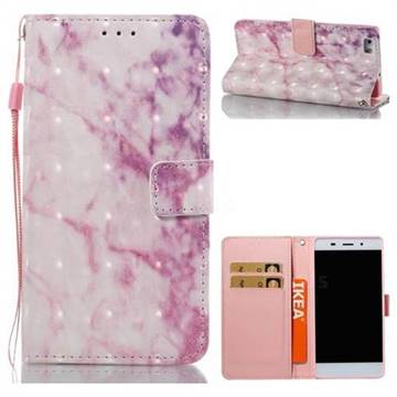 Pink Marble 3D Painted Leather Wallet Case for Huawei P8 Lite P8lite