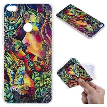 Butterfly Kiss 3D Relief Matte Soft TPU Back Cover for Huawei P8 Lite 2017 / P9 Honor 8 Nova Lite