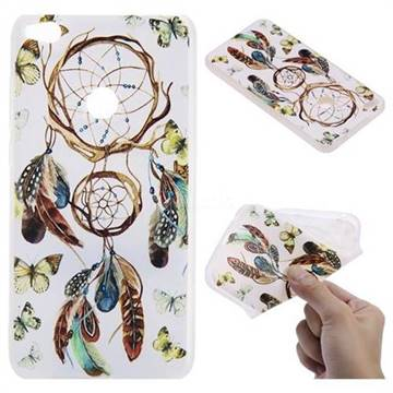 Color Wind Chimes 3D Relief Matte Soft TPU Back Cover for Huawei P8 Lite 2017 / P9 Honor 8 Nova Lite