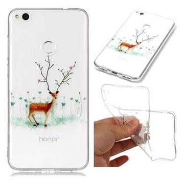 Branches Elk Super Clear Soft TPU Back Cover for Huawei P8 Lite 2017 / P9 Honor 8 Nova Lite