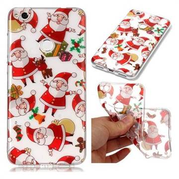 Santa Claus Super Clear Soft TPU Back Cover for Huawei P8 Lite 2017 / P9 Honor 8 Nova Lite