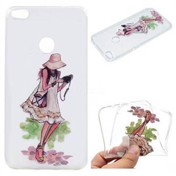 Travel Girl Super Clear Soft TPU Back Cover for Huawei P8 Lite 2017 / P9 Honor 8 Nova Lite