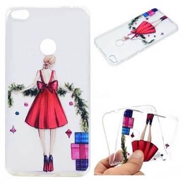 Christmas Girl Super Clear Soft TPU Back Cover for Huawei P8 Lite 2017 / P9 Honor 8 Nova Lite