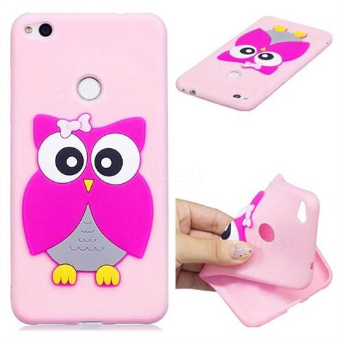 Pink Owl Soft 3D Silicone Case for Huawei P8 Lite 2017 / P9 Honor 8 Nova Lite