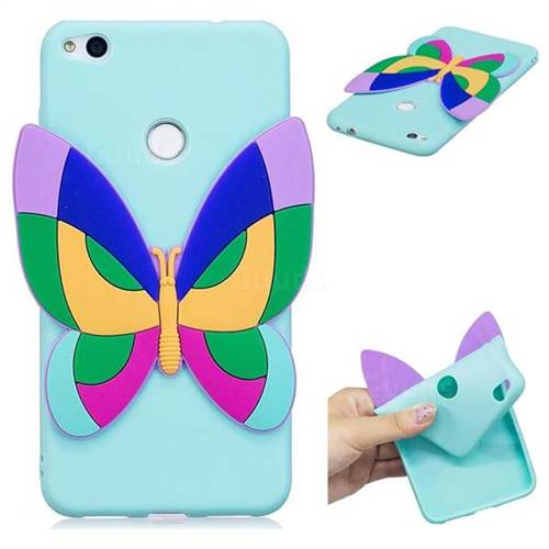 Rainbow Butterfly Soft 3D Silicone Case for Huawei P8 Lite 2017 / P9 Honor 8 Nova Lite