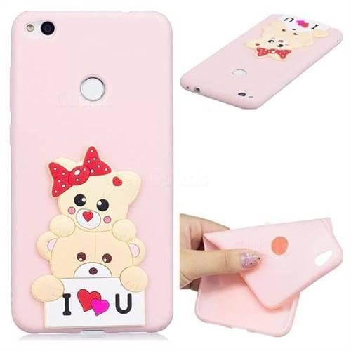 Love Bear Soft 3D Silicone Case for Huawei P8 Lite 2017 / P9 Honor 8 Nova Lite
