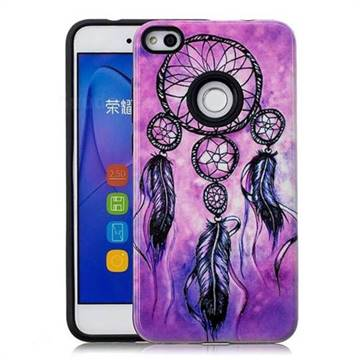 Starry Wind Chimes Pattern 2 in 1 PC + TPU Glossy Embossed Back Cover for Huawei P8 Lite 2017 / P9 Honor 8 Nova Lite