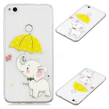 Umbrella Elephant Super Clear Soft TPU Back Cover for Huawei P8 Lite 2017 / P9 Honor 8 Nova Lite
